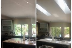 Kitchen Skylights - BEFORE and AFTER